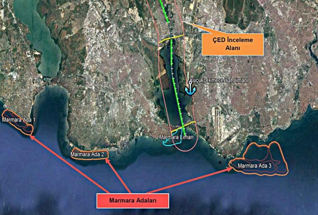 Kanal İstanbul Güzergahı Kanal İstanbul adaları nereye yapılacak