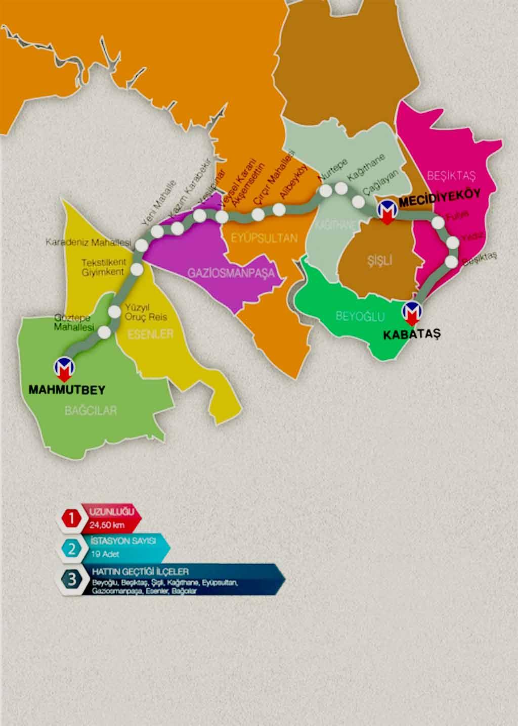 İstanbul 'da 2018 'de açılacak metro hatları