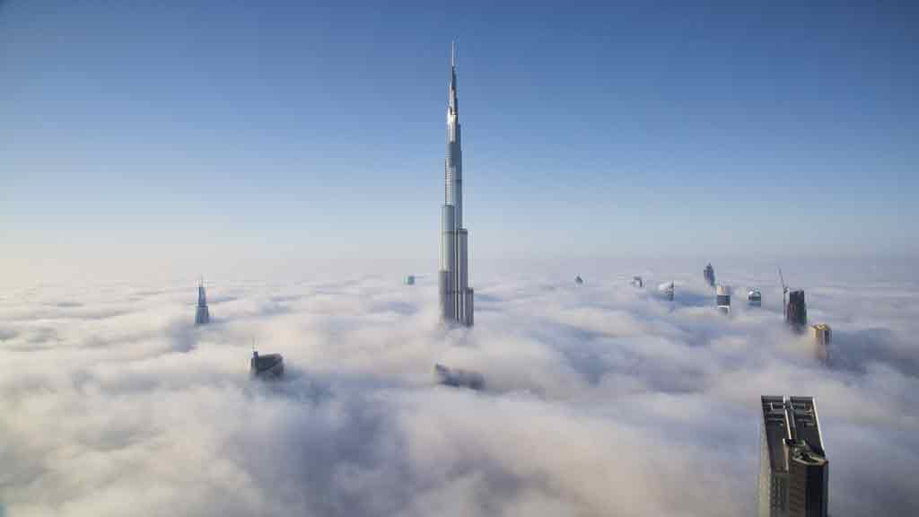 Dünyanın en yüksek binası olan Burç Halife çok sayıda rekora sahip
