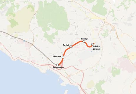 sabiha gokcen havalimanı - tavsantepe metro hattı