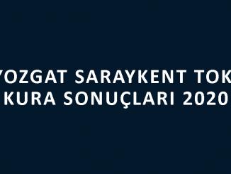 Yozgat Saraykent Toki kura sonuçları 2020! İşte 100 bin sosyal konut kampanyası Yozgat Saraykent Toki Evleri 2+1 ve 3+1 kura sonuçları...